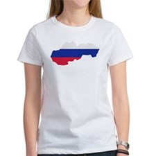 Slovakia map flag Tee