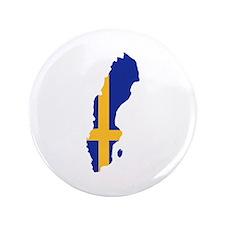 "Sweden map flag 3.5"" Button"