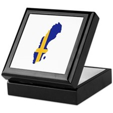 Sweden map flag Keepsake Box