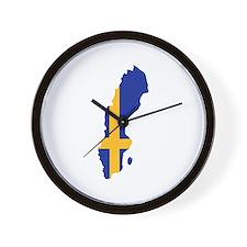 Sweden map flag Wall Clock