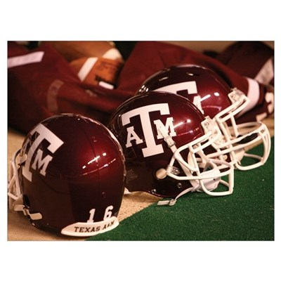 Texas A and M Football Helmets Poster