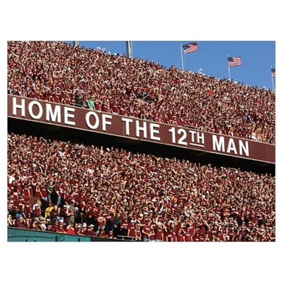 Kyle Field, Home of the 12th Man Framed Print