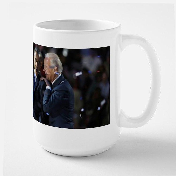 Obama Biden victory Large Mug