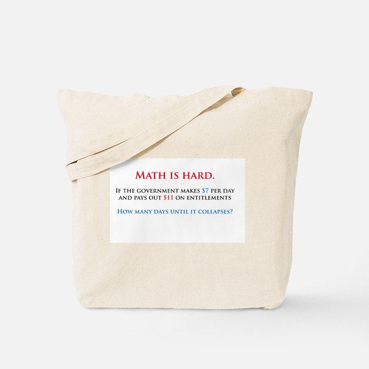 Math is hard. Tote Bag