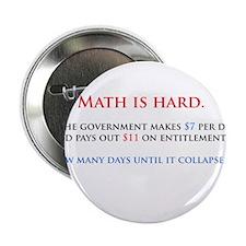 "Math is hard. 2.25"" Button"