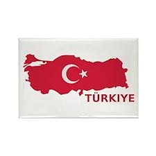 Turkey map flag Rectangle Magnet