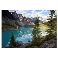 Moraine Lake in the Valley of the Ten Peaks, Banff Canvas Art
