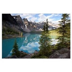 Moraine Lake in the Valley of the Ten Peaks, Banff Poster