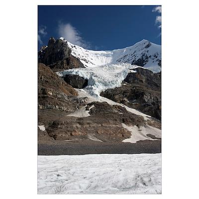 Mount Andromeda and Athabasca Glacier, Jasper Nati Poster