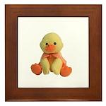 Plush Duck Framed Tile