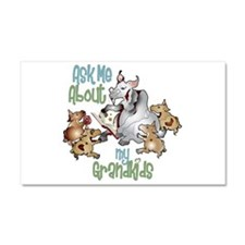 GOAT Ask Me About my Grandkids Car Magnet 20 x 12