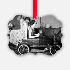 flappers in flivver Ornament