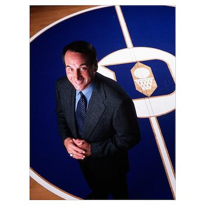 Coach K at Center Court Poster