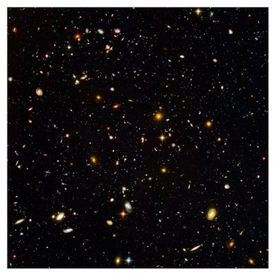 Hubble Ultra Deep Field galaxies Poster