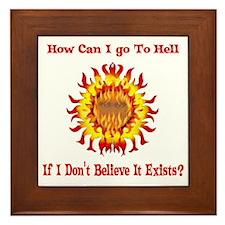 Not Going To Hell Framed Tile