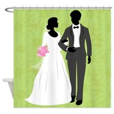 Bride and Groom Shower Curtain