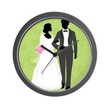 Bride and Groom Wall Clock
