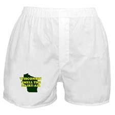 WISCONSIN SMELL THE DAIRY AIR Boxer Shorts