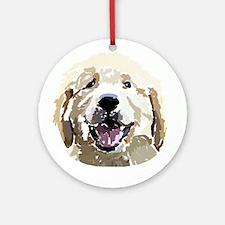 Golden Retriever Puppy Digita Ornament (Round)