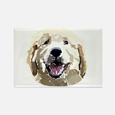 Golden Retriever Puppy Digita Rectangle Magnet (10