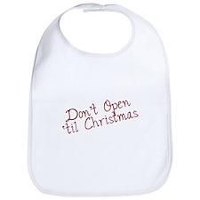 Dont Open til Christmas Bib