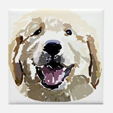Golden Retriever Puppy Digita Tile Coaster