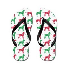 Dalmatian Christmas or Holiday Silhouette Flip Flo