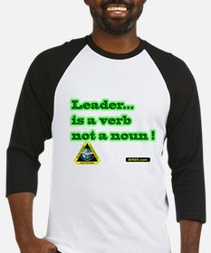 Leader Is A Verb Baseball Jersey