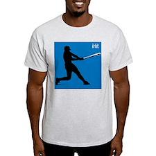 BASEBALL SWING Ash Grey T-Shirt