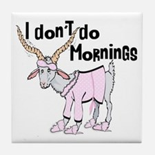 Funny Morning Goat Tile Coaster