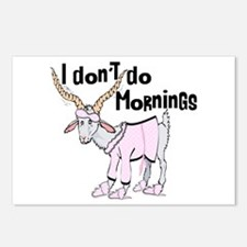Funny Morning Goat Postcards (Package of 8)