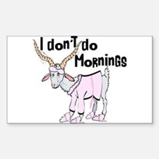 Funny Morning Goat Decal