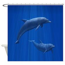 Dolphin Couple Shower Curtain