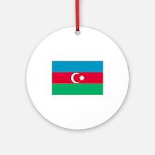 Azerbaijan flag Ornament (Round)