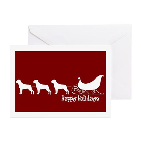 "Rottweiler ""Sleigh"" Greeting Cards (Pk of 10)"