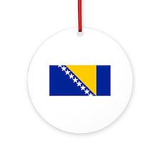 Bosnia and Herzegovina flag Ornament (Round)