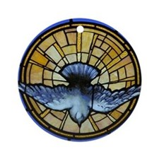 Holy Spirit Dove Ornament (Round)