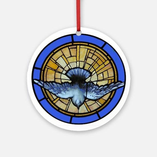 Holy Spirit Dove Ornament (Round)