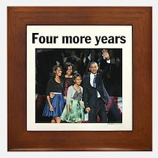 Four More Years: Obama 2012 Framed Tile