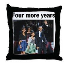 Four More Years: Obama 2012 Throw Pillow