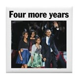 Four more years obama Drink Coasters