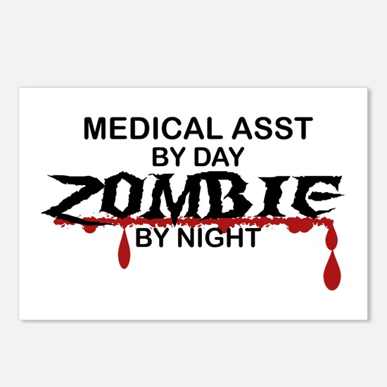 Medical Assistant Zombie Postcards (Package of 8)