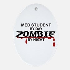 Med Student Zombie Ornament (Oval)