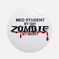 Med Student Zombie Ornament (Round)