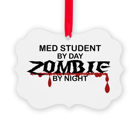 Med Student Zombie Picture Ornament