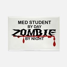 Med Student Zombie Rectangle Magnet