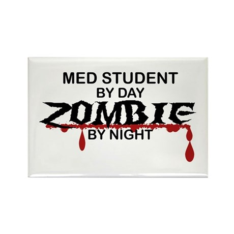 Med Student Zombie Rectangle Magnet (100 pack)