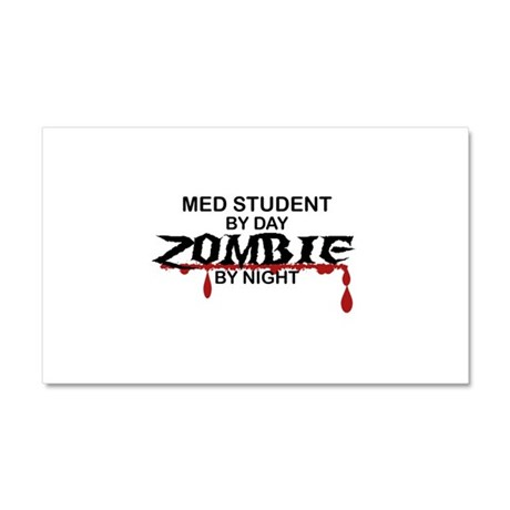 Med Student Zombie Car Magnet 20 x 12