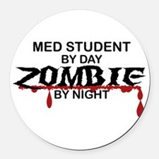 Med Student Zombie Round Car Magnet