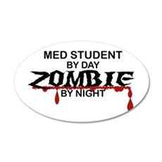 Med Student Zombie 20x12 Oval Wall Decal